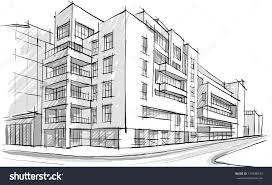 sketches of buildings architecture sketch drawing buildingcity