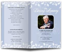 funeral program template changeable color allegro letter single fold program template