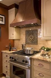 Copper Backsplash Tiles For Kitchen Lantern Backsplash Tile Kitchen Traditional With Wood Cabinets