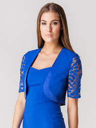hybrid soho lace bolero jacket in cobalt official site