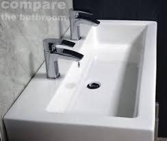 slab sink slab basin extra deep bathroom sink 2 tap hole his hers twin long