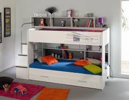 Kid Bunk Bed White Bunk Beds For With Storage Area Surripui Net