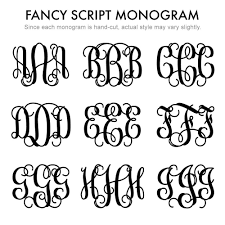3 initial monogram fonts silver 3 initial script monogram leather wrap bracelet s