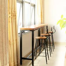 Wall Bar Table Buy Nordic Simple Wrought Iron Wood Bar Table Against The Wall