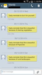 Text Message 2014 - the inspirational texts one woman sends to her friends every morning