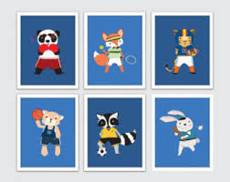 Sports Nursery Wall Decor Sports Nursery Etsy