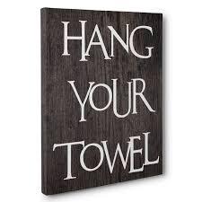 Home Decorating Rules Bathroom Rules Hang Towel Canvas Art Wall Decoration Paper Blast