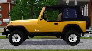 yellow jeep 4 door fresh prince creations sims 3 1988 jeep wrangler