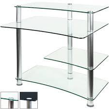 Computer Schreibtisch Ecke Stilista Pc Büro Computertisch Schreibtisch Klarglas