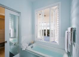 Bathroom Pocket Doors Pocket Door With Mirror Bathroom Contemporary With Bath