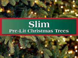 slim pencil pre lit artificial trees island
