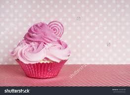 pink cotton candy land valentine cupcake stock photo 157244738