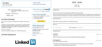 Resume Builder From Linkedin Marvellous Design Linkedin Resumes 13 Linkedin Resume Template