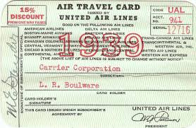 Vermont best travel credit cards images 1939 united air travel card uatp pinterest travel cards and jpg