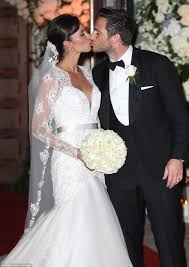 weddings 10k christine bleakley wears 10k dress to wedding to frank lard in