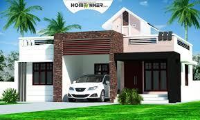 Home Design For Rectangular Plot Kerala Home Plans Design Low Cost 976 Sq Ft 2bhk