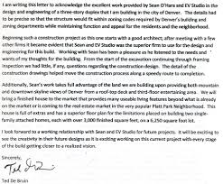 letter of recommendation for evstudio architecture from ted de