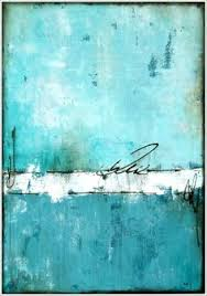 weathered 10x18 inches textured turquoise mixed media abstract