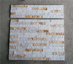 Stacked Stone Veneer Backsplash by White Marble With Beige Marble Wall Stone Cladding Corner Prices