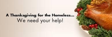 fundraiser by roy feeding homeless on thanksgiving