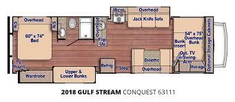 coachmen class c motorhome floor plans 2018 gulf stream conquest 63111 u2013 stock cq18004 the rv man