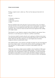 gallery of simple cover letter samples cv resume templates