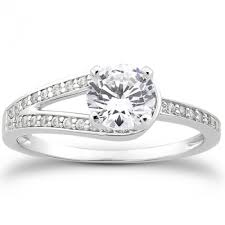 split band engagement rings split band prong set engagement ring with bead set channel