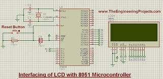 interfacing of lcd with 8051 microcontroller in proteus isis the