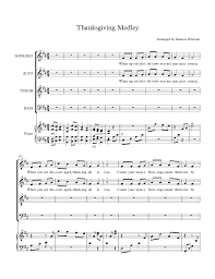 thanksgiving piano thanksgiving medley by monica peterson satb