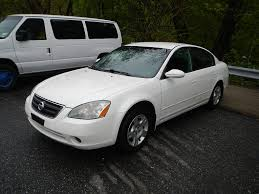 nissan altima headlights 2004 nissan altima 2 5 s white brooklyn new york used auto sales ny
