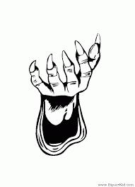 Coloriage Main gauche à imprimer dans les coloriages Magie  dessin