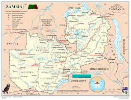 Zambia Africa Map by Zambia Map Blank Political Zambia Map With Cities