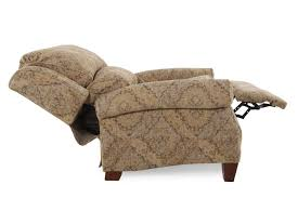 patterned rolled arm recliner mathis brothers furniture