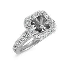 platinum halo engagement rings halo vintage engraved engagement ring with pav eacute setting in