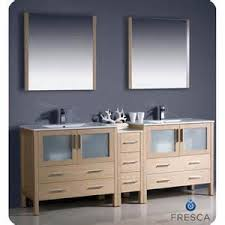 84 Inch Bathroom Vanities by Design Element Moscony 84 Inch Double Sink Bathroom Vanity In