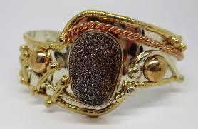 cuff bracelet with stones images Allura power gems druzy cuff bracelet premium stone pretty jpg