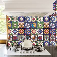 tile decals for kitchen backsplash mexican tiles stickers pack of 16 tiles tile decals for