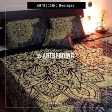 Indian Print Duvet Bedroom Trippy Bedding Hippie Bed Sets Hippie Duvet Covers