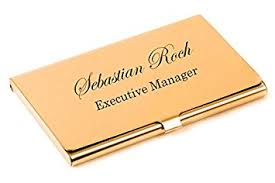 Business Card Holder Amazon Amazon Com Personalized Gold Business Card Holder Engraved Free