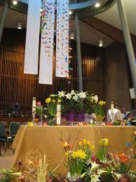Easter Decorations For Church Altar by 23 Best Easter Church Decorating Images On Pinterest Church