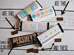 free candy bar wrapper thank you and congrats printables a