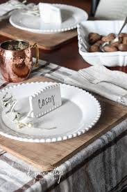 Simple Thanksgiving Table Settings The Simple Thanksgiving Table The Wood Grain Cottage
