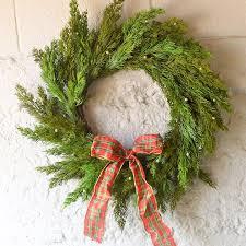 faux juniper wreath wreath door wreath for the holidays