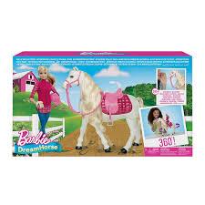 K Henm El Preiswert Mattel Barbie Ftf02 Traumpferd Und Puppe Laufendes Pferd Mit