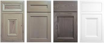 gray stained kitchen cabinets