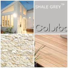 House Colours House Colours White Weatherboard Shale Grey Roof Ivory Stack