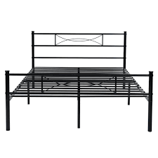 amazon com metal bed frame full size yanni 10 legs mattress
