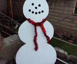 simple wood snowman lawn decoration 11 steps