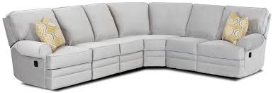 Sectional Sofa With Recliner Classic Reclining Sectional Sofa With Rolled Arms By Klaussner