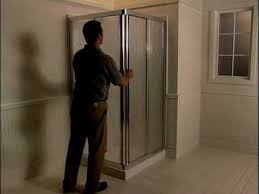 How To Install A Sterling Shower Door Installation Of Sterling Corner Shower Doors Bathroom